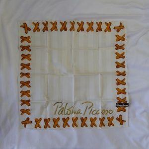 Paloma Picasso X Scarf Wrap Handkerchief NEW